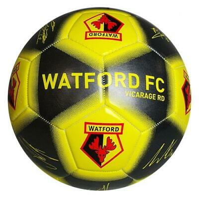 Watford FC Official Size 5 Metallic Finish Synthetic Football