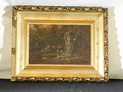Antique c19thC Barbizon School Attr.Narcisse Virgilio Diaz De La Pena Oil Canvas