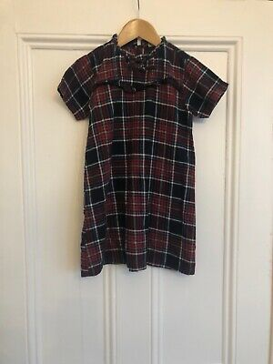Girls Red White & Blue Checked Short Sleeved Tartan Dress From Next Age 6