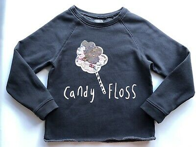 Girls NEXT sequin Candy Floss Jumper Age 9 Years