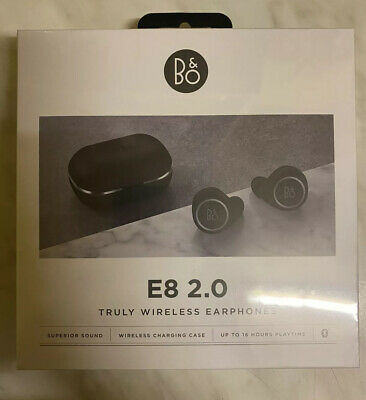 B&O Bang & Olufsen Beoplay E8 2.0 Truly Wireless Headphones - Black - NEW Sealed