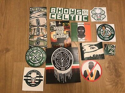 Green Brigade/Style Mile Vandals - Ultras Celtic Stickers, Extremely Rare