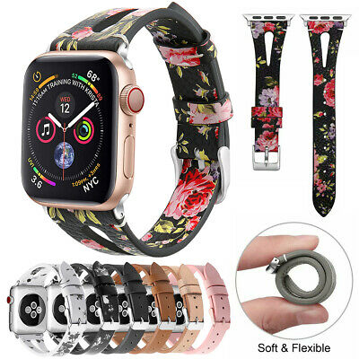 Leather Band for Apple Watch Series 5 4 3 2 1 SLIM iWatch Strap 38/40mm 42/44mm