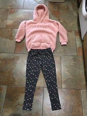 girls next pyjamas Age 12 Pink Fluffy Top