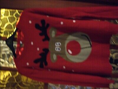 URBAN OUTLAW  XMAS   Jumper  RED  RUDOLPH   CHILDS AGE 13-14  YEARS  USED  VGC
