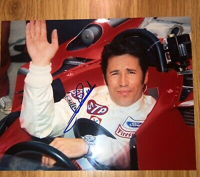 Mario Andretti Authentic Hand Signed Autograph 8x10 Photo PROOF Picture