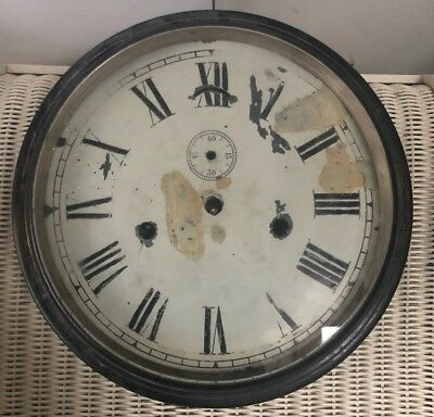 Antique Vintage Victorian Seth Thomas Antique Brass Ships Clock Wall Usa