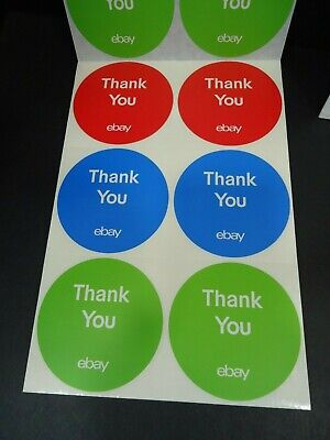 eBay Branded Round Multi Color Thank You Stickers 100 3x3