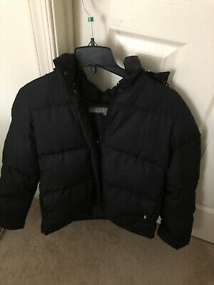 Kids KENNETH COLE REACTION black puffy zip winter jacket coat~s. M