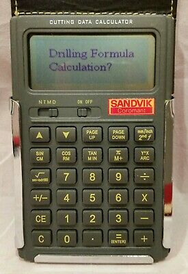 SANDVIK Coromant Data Calculator for Cutting, Turning, Milling, Drilling