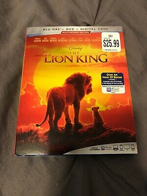 Disney The Lion King Blu Ray Dvd NO Digital Code. Never Played Excellent  2019