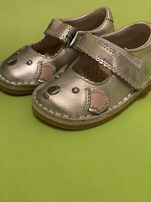 Girls Next Shoes Infant Size 5 Silver New Witout Box Mouse Design