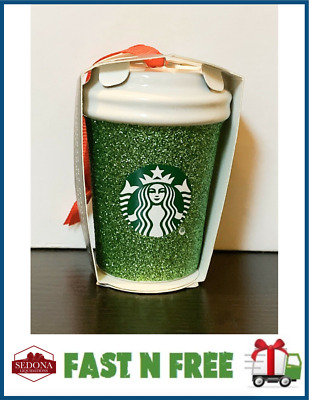 Starbucks 2019 - GLITTER GREEN - Holiday Christmas Ornament