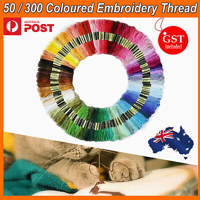 50/300 Colour Egyptian Cross Stitch Cotton Sewing Skeins Embroidery Thread Floss