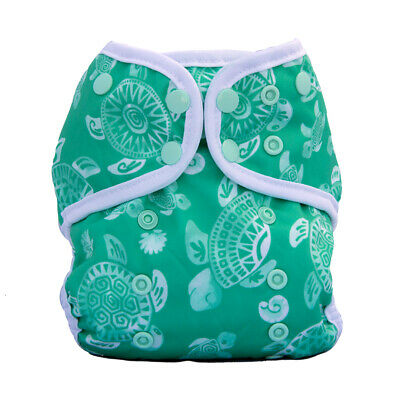 Lalabye Baby One Size Cloth Diaper Cover - Tortuga Bay Turtles