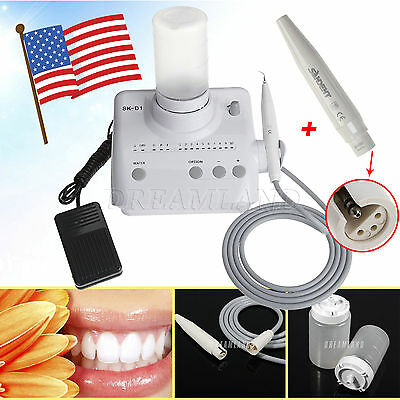 Dental Ultrasonic Scaler Bottle Fit DTE Satelec + 2*Handpieces Autoclavable SR/W