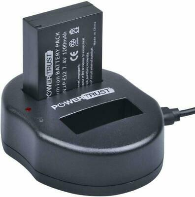 PowerTrust LP-E12 LPE12 Battery Charger for Canon Rebel SL1, EOS-M, EOS M2, EOS