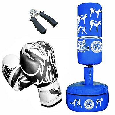 Freestanding Kids/Junior Boxing Punch Bag Sand Heavy Duty MMA Arts Dummy Style