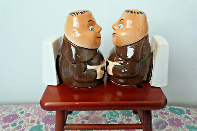 Vintage Pottery McWilliams Sherry Monks Table Display Made in Japan