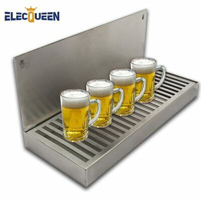 Beer Dripping Tray Cut-Out Surface Mount Stainless Steel Drip Tray No  Drain Bar