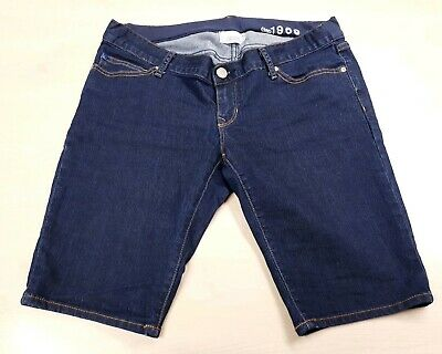 Gap Maternity Shorts Size 4 Medium Denim Dark Blue Under Bump Ladies Womens