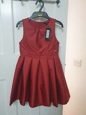 BNWT Marks And Spencer Red Christmas Dress Age 7-8Yr NEW