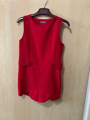 Girls Next Red Playsuit Age 5 Party  Bnwt