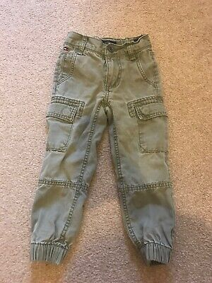 Boys Tommy Hilfiger Combat Pants Trousers Green 3 Years