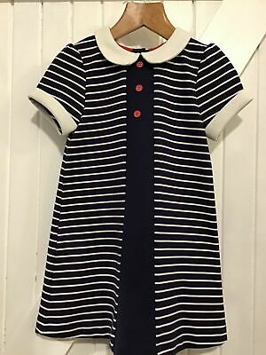 Little Bird by Jools Oliver 2-3 years Dress Peter Pan Collar Navy Striped