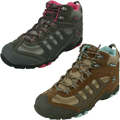 Ladies Hi Tec Penrith Mid Wp Womens Outdoor Hiking Waterproof Ankle Boots Size