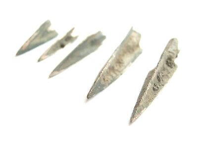 Ancient Greek Scythian Trilobate Billon Arrowhead 500 BC -lot of 5 Broad Variety