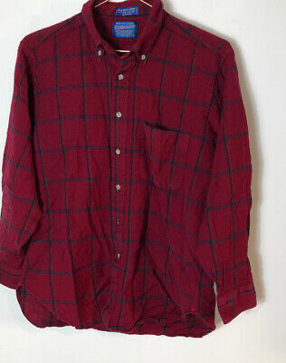Pendleton Wool Shirt Size L In Red Check