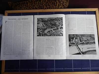 1943 Raf Enemy Transport Bombing Techniques Maps Orig Illustrated Article 5Pages