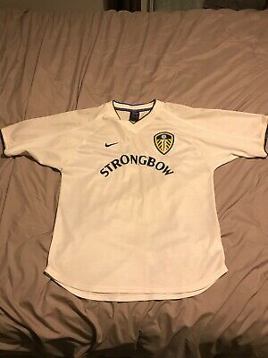Leeds United Shirt Home Small 2000/01 Nike Strongbow