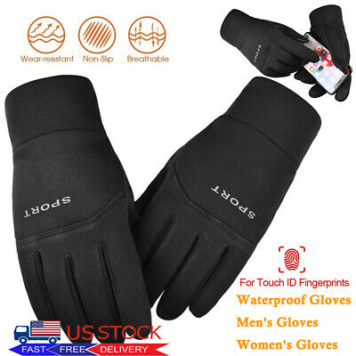 Mens Womens Winter Gloves Warm Touch Screen Waterproof for Motorcycle Ski Gym US