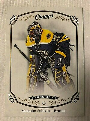 2015-16 Upper Deck Champs Rookie Malcolm Subban Boston Bruins #256