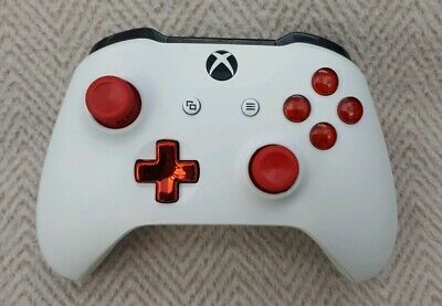 Official Microsoft xbox one controller  - Custom White with Red