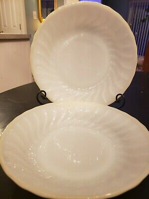 Lot of 2  Fire King Anchor Hocking Swirl Soup/Salad Bowls, Vintage
