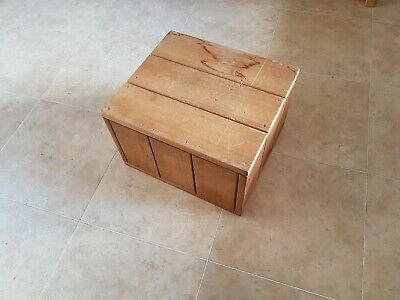 Handmade Rustic wooden board foot stool side table strong step up box