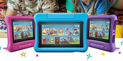 """All New Amazon Fire 7 Kids Edition Tablet 16GB 7"""" Display Latest 2019 Model"""