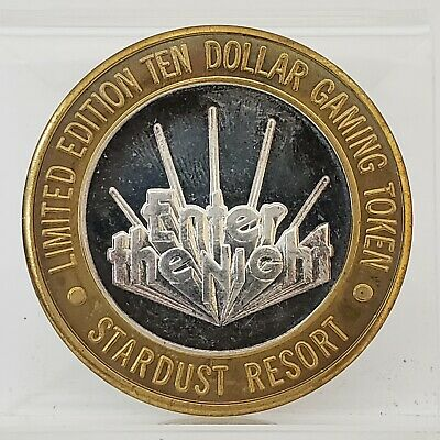 Enter The Night STARDUST RESORT Las Vegas .999 Silver $10 Casino Token CT-213