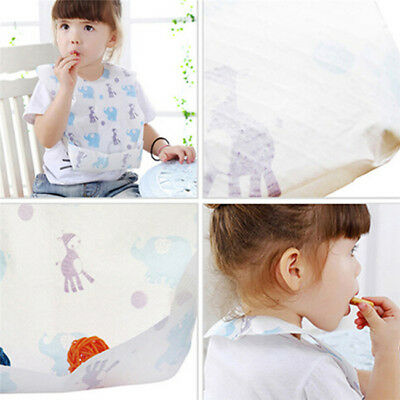 Disposable Bibs Children Baby Waterproof Sterile Eat Bibs With Pocket