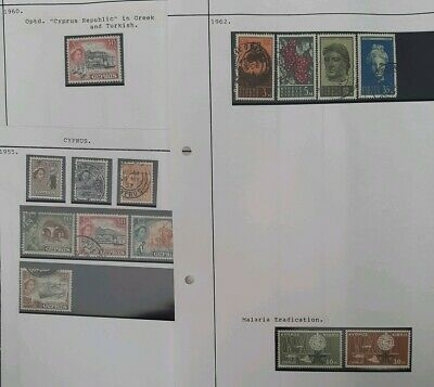 Cyprus QEII 1955-1999 Stamp Collection  mixed conditions and years see photos