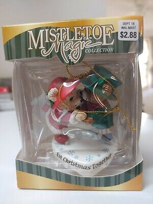 "Mistletoe Magic Collection Bears ""1st Christmas Together""CHRISTMAS ORNAMENT RARE"