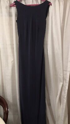 Monsoon Evening/ Bridesmaid/ Prom Long Cowl Back Dress Gown UK12 Offers Welcome