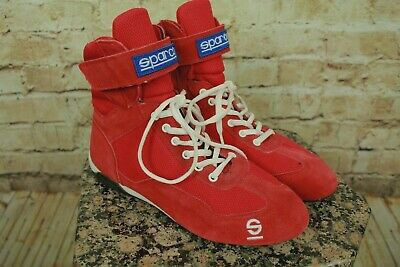 Sparco Racing Red Suede Drifting Racing Shoes Size 8Us/41Eu  Euc!