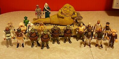 Vintage Kenner Star Wars Jabba The Hutt playset Palace Lot 21 Figures