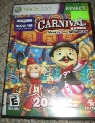 Carnival Games: Monkey See, Monkey Do (Microsoft Xbox 360, 2011) Complete