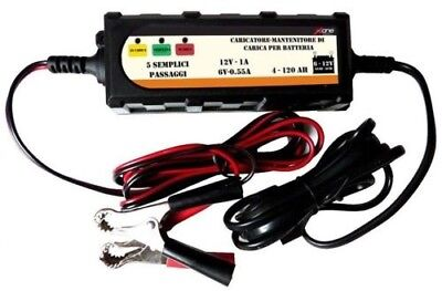 Charger Portable Maintainer Car Battery & Motorcycle with Wires 6V 12V 1A