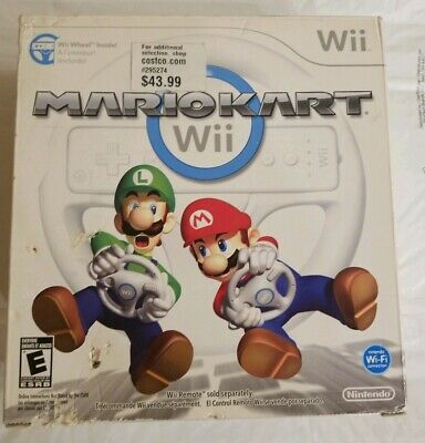 Mario Kart with Wheel Bundle (Nintendo Wii, 2008) Complete In Box